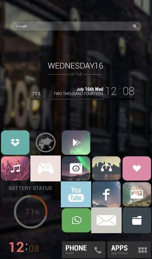 Simple night theme