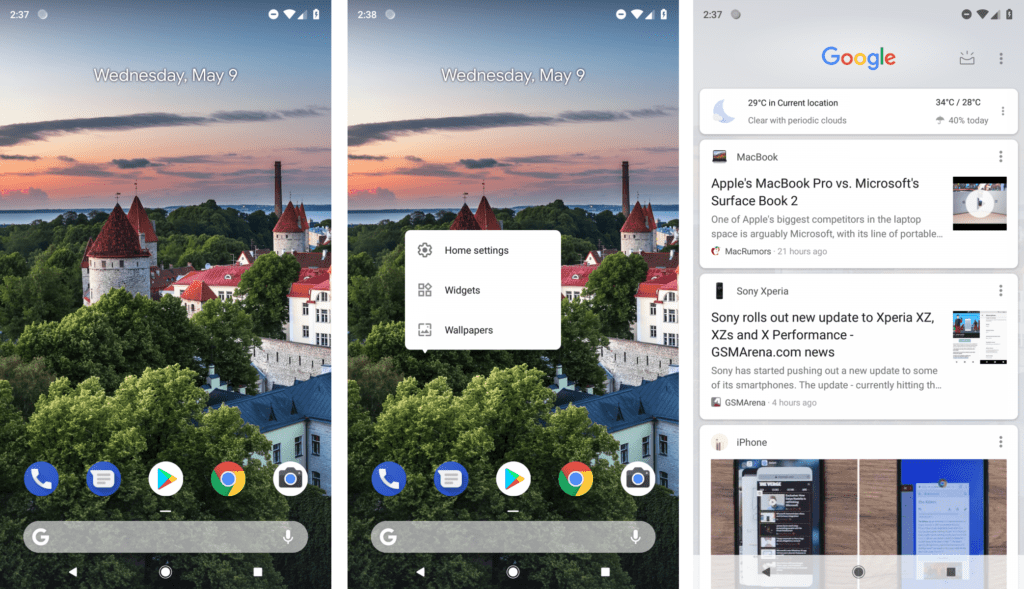 Android P launcher