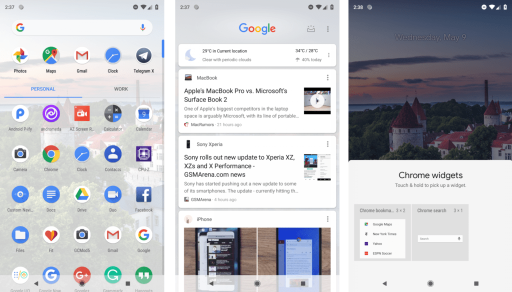 Android P Launcher 2