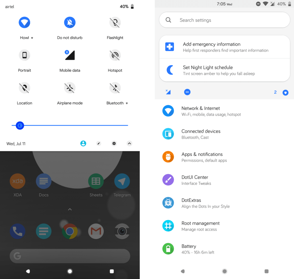 Flux white for Android P Notifications