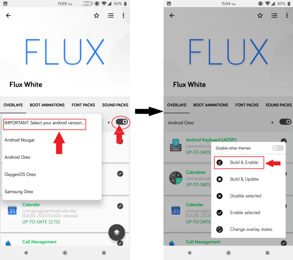 How to install Flux white 2