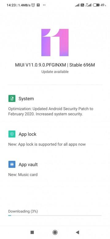 MIUI 11.0.9.0 for Redmi Note 7/7S