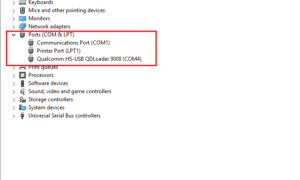 Qualcomm Drivers in Device manager