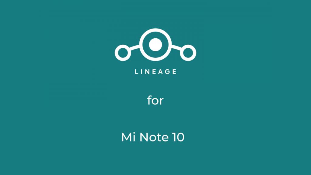 LineageOS 18.1 for Xiaomi Mi Note 10